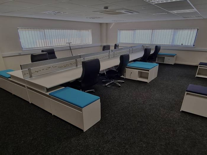 Completed in Cornwall of office installation of office furniture.